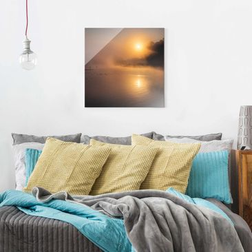 Product picture Print on Glass - Sunrise on the lake...