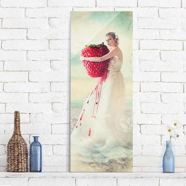 Produktfoto Glasbild - Strawberryprincess - Panorama Hoch