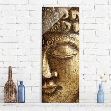 Produktfoto Glasbild - Vintage Buddha - Panorama Hoch