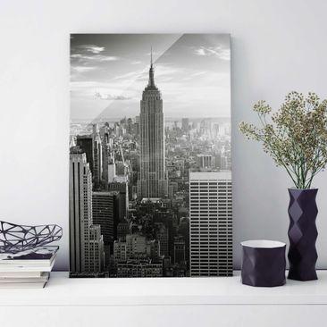 Produktfoto Glasbild - Manhattan Skyline - Hoch 3:2