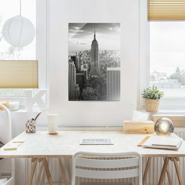 Product picture Print on Glass - Manhattan Skyline -...