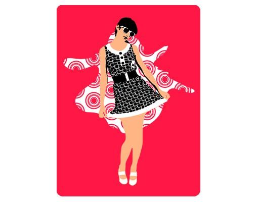 Produktfoto Selbstklebendes Wandbild No.TA24 Retro Chica