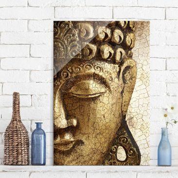 Produktfoto Glasbild Buddha - Vintage Buddha - Buddha Bild Hoch 3:2