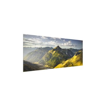 Product picture Print on Glass - Mountains and valley of...