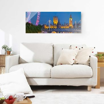 Product picture Print on Glass - Big Ben and Westminster...