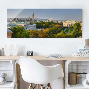 Produktfoto Glasbild - Blick über Wien - Panorama Quer