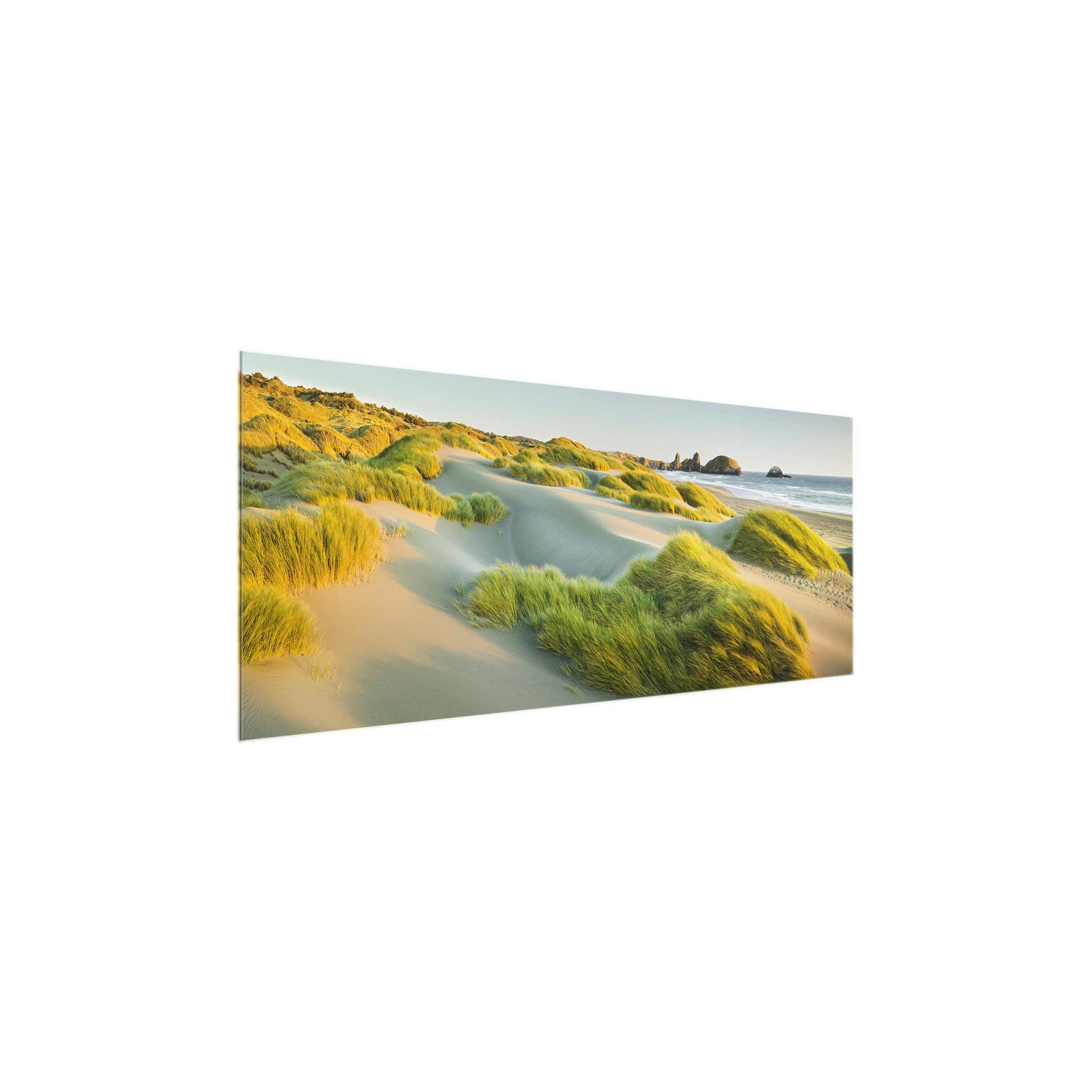 beach on the North Sea wall picture Panorama Wide print on glass,glass print,glass picture,wall mural,glass image,wall art,glass wall picture Print on Glass Wall Art Dimension HxW: 30cm x 80cm glass printing