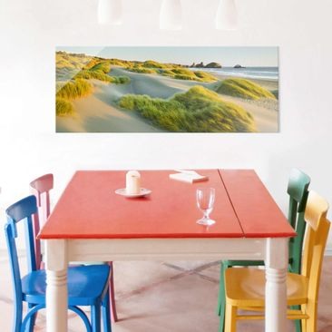 Product picture Print on Glass - Dunes and grasses at...