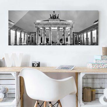 panorama skyline glasbilder panorama wandbilder aus glas. Black Bedroom Furniture Sets. Home Design Ideas