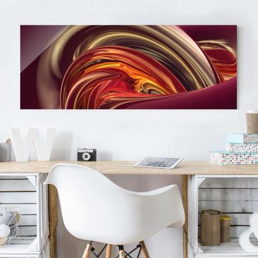 Produktfoto Glasbild - Fantastic Burning - Panorama Quer