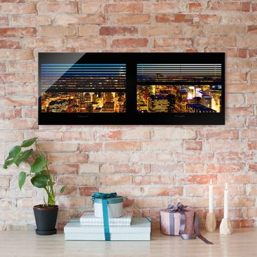 Product picture Print on Glass - Window blinds views -...
