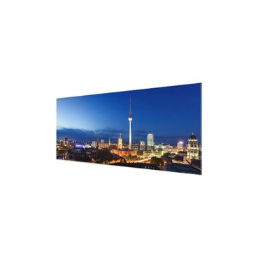 Product picture Print on Glass - TV tower at night -...