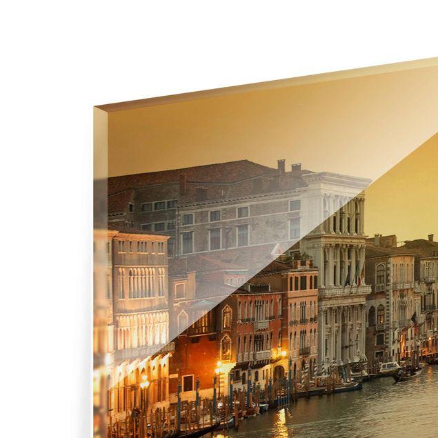 Produktfoto Glasbild - Großer Kanal von Venedig - Panorama Quer