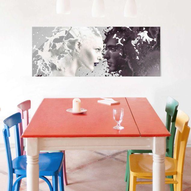 Produktfoto Glasbild - Milk & Coffee - Panorama Quer