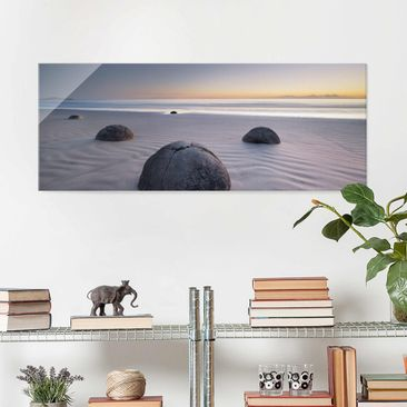 Product picture Print on Glass - Moeraki Boulders New...