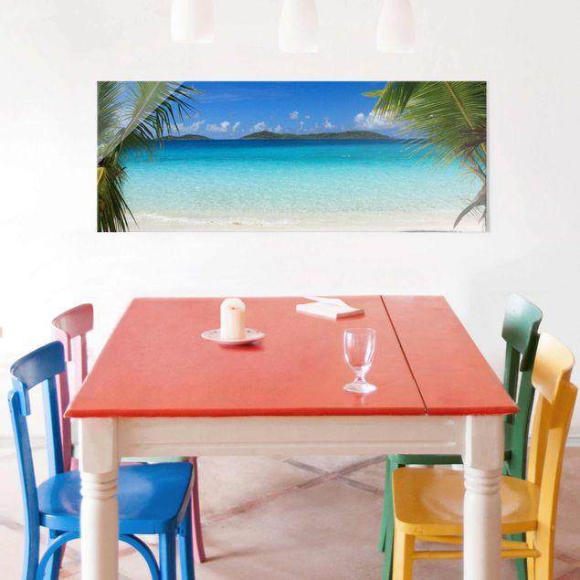 Produktfoto Glasbild - Perfect Maledives - Panorama Quer