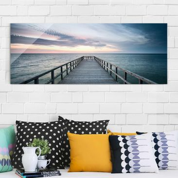 Product picture Print on Glass - Bridge Promenade -...