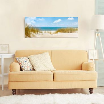 Product picture Print on Glass - beach on the North Sea...
