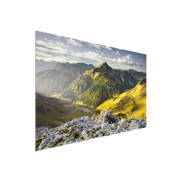Product picture Glass Print - Mountains and valley of...