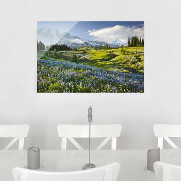 Product picture Glass Print - Mountain meadow with...