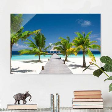 Produktfoto Glasbild - Catwalk to Paradise - Quer 2:3