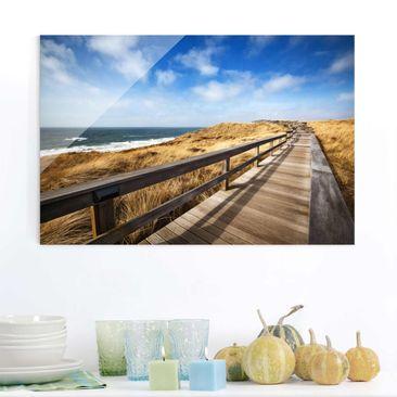Produktfoto Glasbild - Dünenweg an der Nordsee auf Sylt - Quer 2:3