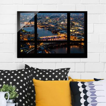 Product picture Glass Print - Window view of London's...