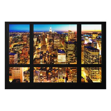 Product picture Glass Print - Window overlooking New...