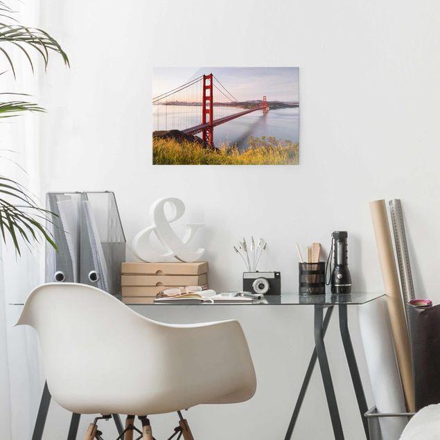 Produktfoto Glasbild - Golden Gate Bridge in San...