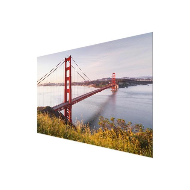 Produktfoto Glasbild - Golden Gate Bridge in San Francisco - Quer 2:3