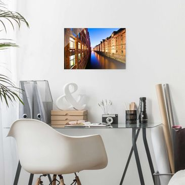 Product picture Glass Print - Hamburg Speicherstadt -...