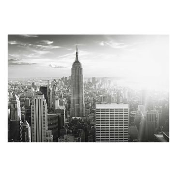 Product picture Glass Print - Manhattan Skyline - Glass...
