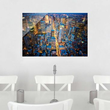 Product picture Glass Print - Midtown Manhattan - Glass...