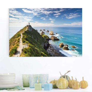 Product picture Glass Print - Nugget Point Lighthouse...