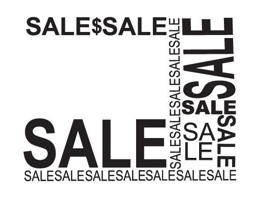 Produktfoto Fensterfolie - Fenstertattoo No.JO51 Wild Sale - Milchglasfolie