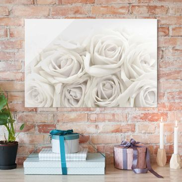 Produktfoto Glasbild - Wedding Roses - Quer 2:3 -...