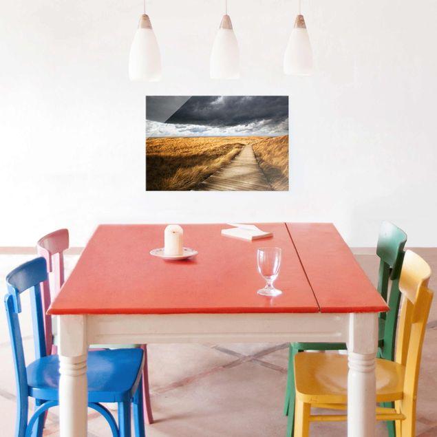 Produktfoto Glasbild - Weg in den Dünen - Quer 2:3