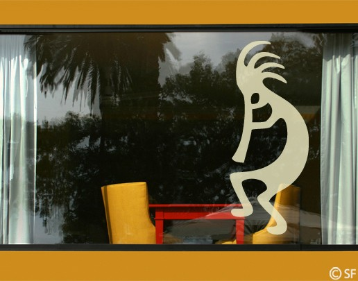 Produktfoto Fensterfolie - Fenstertattoo No.SF987 Kokopelli - Milchglasfolie