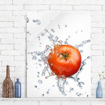 Produktfoto Glasbild Küche - Frische Tomate - Hoch 4:3