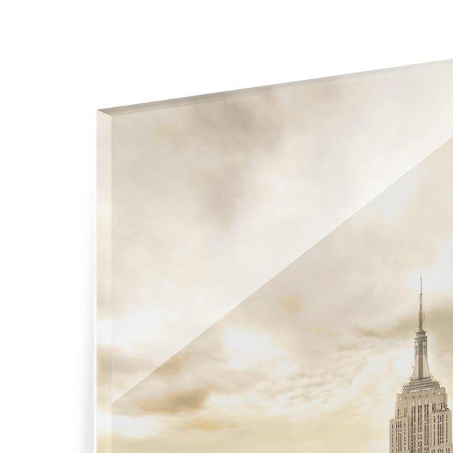 Produktfoto Glasbild - Manhattan Dawn - Hoch 4:3
