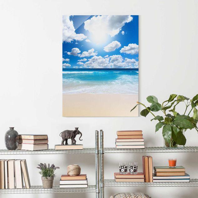 Produktfoto Glasbild - Touch of paradise - Hoch 4:3