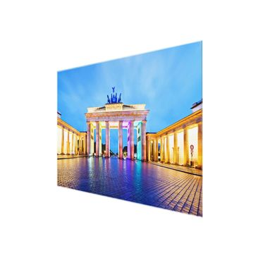 Product picture Glass Print Berlin - Illuminated...