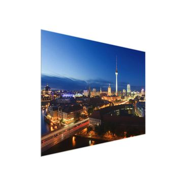 Product picture Glass Print Berlin - TV tower at night -...