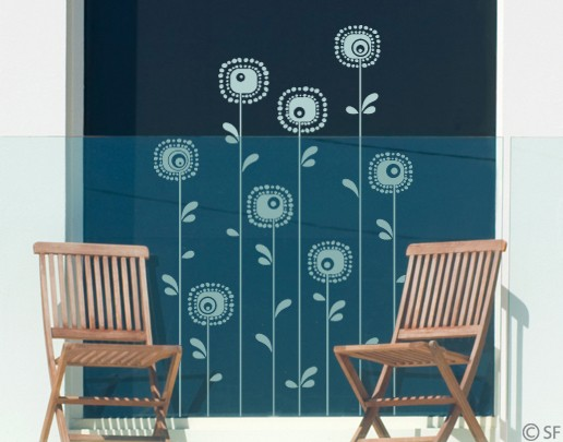 Produktfoto Fensterfolie - Fenstertattoo - Fensterdeko - No.SF988 Retroplants - Fensterbilder Frühling