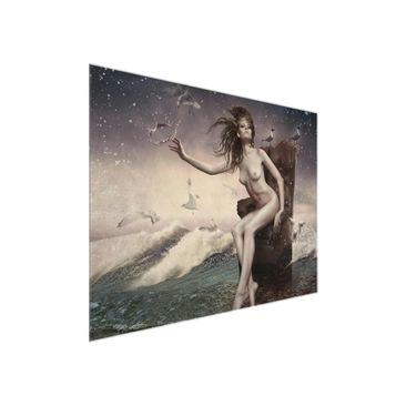 Product picture Glass Print - In the surf - Glass Wall...
