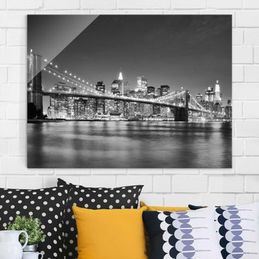 Produktfoto Glasbild - Nighttime Manhattan Bridge II...