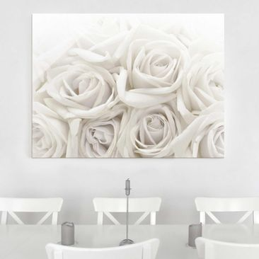 Product picture Glass Print - Wedding Roses - Glass Wall...