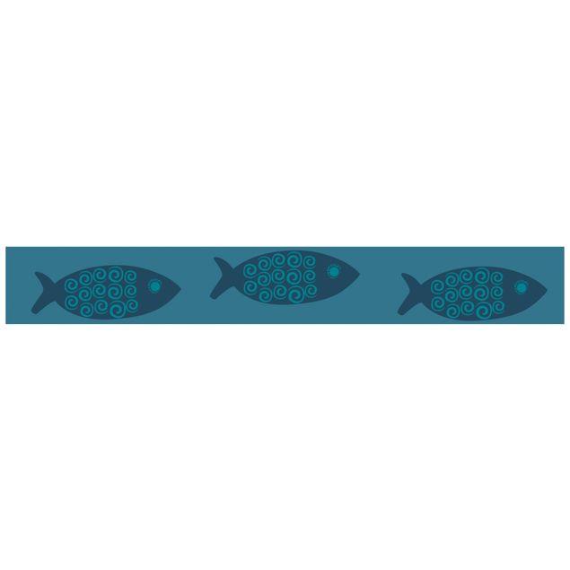 Produktfoto Bordüre selbstklebend - Maritime Fisch Bordüre - Maritimstil