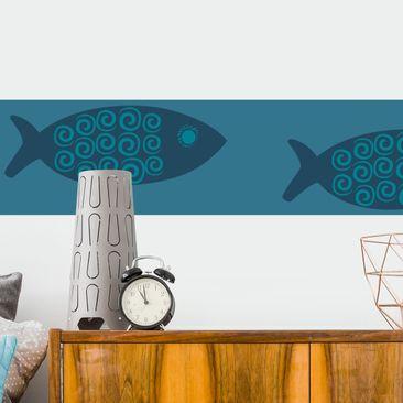 Immagine del prodotto Adesivo murale Bordura - Maritime Fish Border