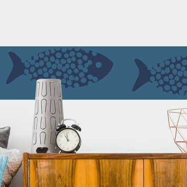 Produktfoto Bordüre selbstklebend - Maritime Meeresfische Tapetenbordüre